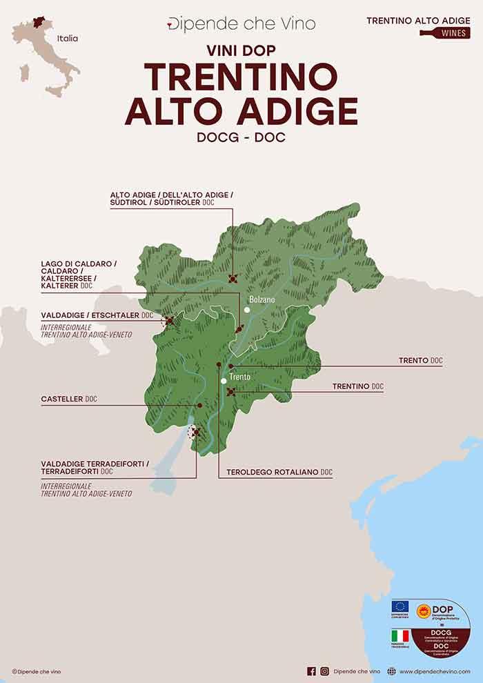 Cartina Italia Trentino Alto Adige.Regione Trentino Alto Adige Dipende Che Vino