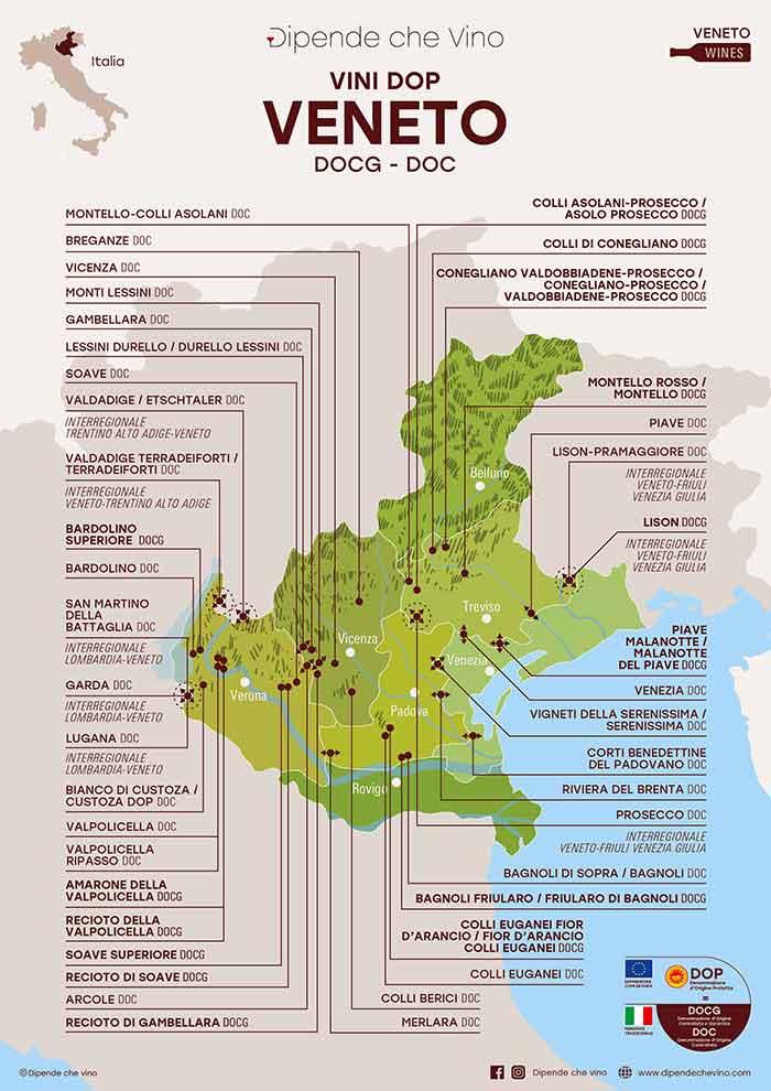 Monti Berici Cartina Italia.Regione Veneto Dipende Che Vino